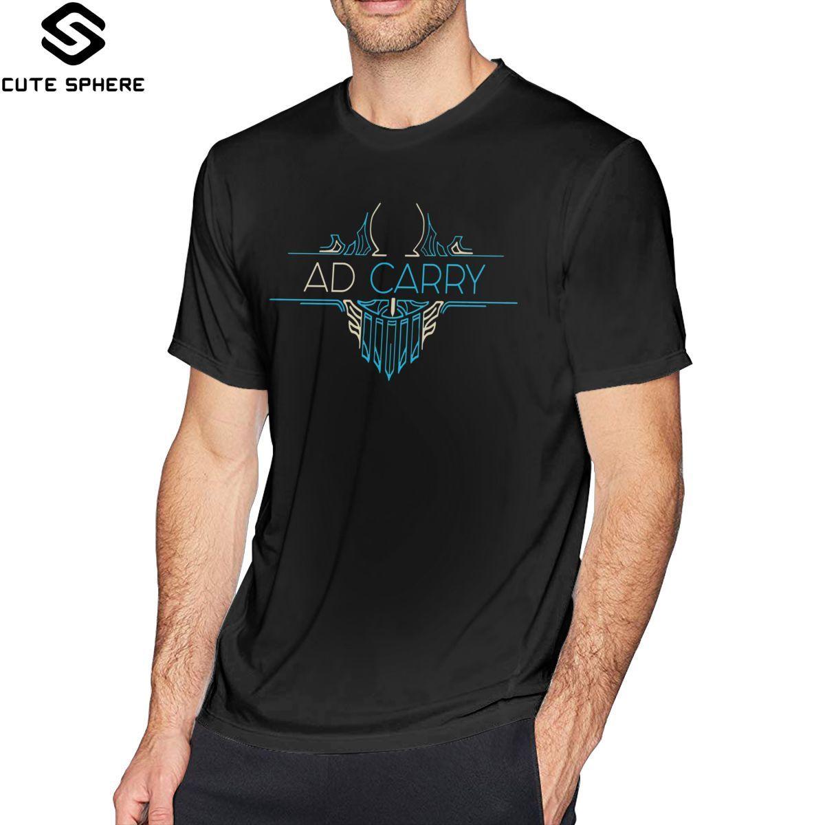 Jinx Lol T Shirt AD Carry League Of Legends LOL Penta T-Shirt Short Sleeve Fashion Tee Shirt Oversized Tshirt
