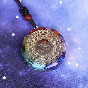 Image 2 - Pendentif en orgonite avec le symbole Om, collier de méditation et chakra, énergie de guérison, bijoux faits à la maison, livraison directe professionnelle