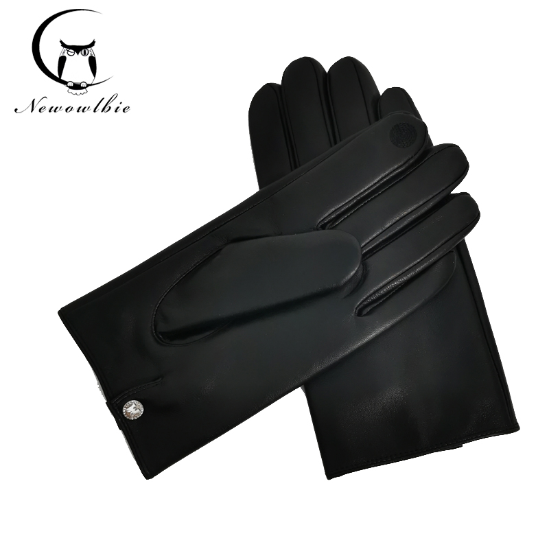 Top Quality Sheepskin Soft Leather Men Fashion Driving Gloves