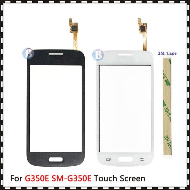 """4.3 """"삼성 갤럭시 DUOS 스타 어드밴스 G350E SM G350E 터치 스크린 디지타이저 센서 외부 유리 렌즈 패널 블랙 화이트"""