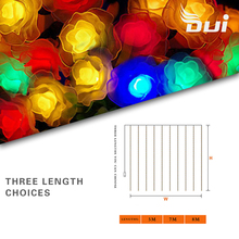 DUI Hot selling solar rose 20LED light line outdoor waterproof Christmas decoration lamp courtyard color
