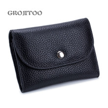 GROJITOO Leather litchi pattern coin purse  multi-functional card bag 2020 new coin bag for women and man Large Capacity wallet