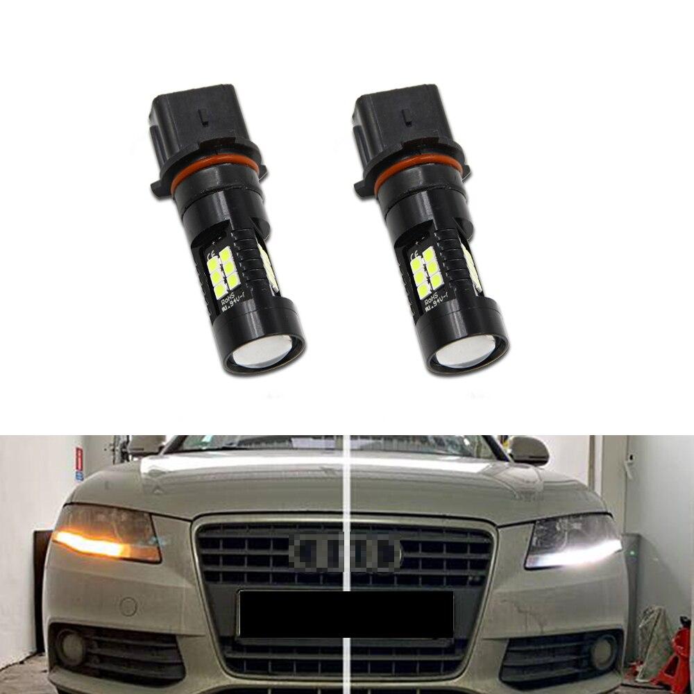 2 шт. ксенон белый P13W 21-SMD светодиодный лампы для Audi A4 B8 NonFL (2008-2012) дневные фары светильник дневные ходовые огни