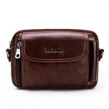 Purse Belt-Bags Fanny Crossbody Genuine-Leather Waist-Pack Messenger Cowhide Small Hip-Bum