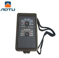 Вогнутые наружные продукты многофункциональный компас с кремень термометр уровень T10