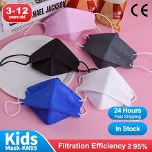 Peixe em forma de kn95 criança máscaras ffp2 mascarillas niños para 3-12 anos de idade fpp2 crianças rosto máscara boca reutilizável máscara máscara