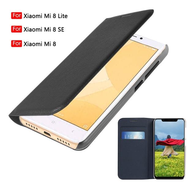 Phone Case For Xiaomi Mi 8 Lite flip wallet leather cover Xiomi Mi8 Mi8Se Mi8lite 8lite With Credit Card Pocket 360 Protective