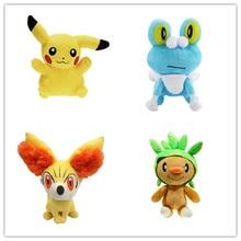 4 шт./компл. плюшевые игрушки куклы чучела животные игрушки, Пикачу Froakie Fennekin Chespin детские игрушки станет желанным подарком для друзей