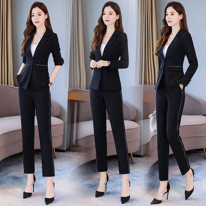 Set/Suit Skirt 2019 Autumn Elegant Fashion Elegant Versatile Waist Hugging Solid Color