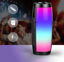 LED Pulse Speaker Portabel Bluetooth Nirkabel Stereo Speaker Bluetooth 5.0 Portable Kolom Subwoofer Mini Speaker Komputer(China)