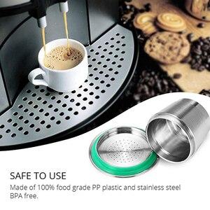 Image 2 - 再利用可能なネスプレッソコーヒーフィルターカプセルステンレス鋼永久カフェネスプレッソため改ざん機coffeewareカップ