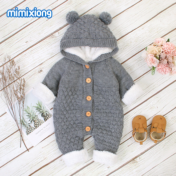 Baby Rompers Knitted Infant Boys Girls Jumpsuits Autumn Winter Soft Warm Newborn Bebes Overalls One Piece Toddler Kids Playsuits newborn winter baby rompers girls windproof rompers children warm outdoor rompers kids jumpsuits