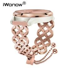 נשים תכשיטי רצועת השעון עבור Garmin Vivomove HR/3/Vivoactive 4/3 מוסיקה/Venu/לוקס/ סגנון שעון להקת נירוסטה רצועה