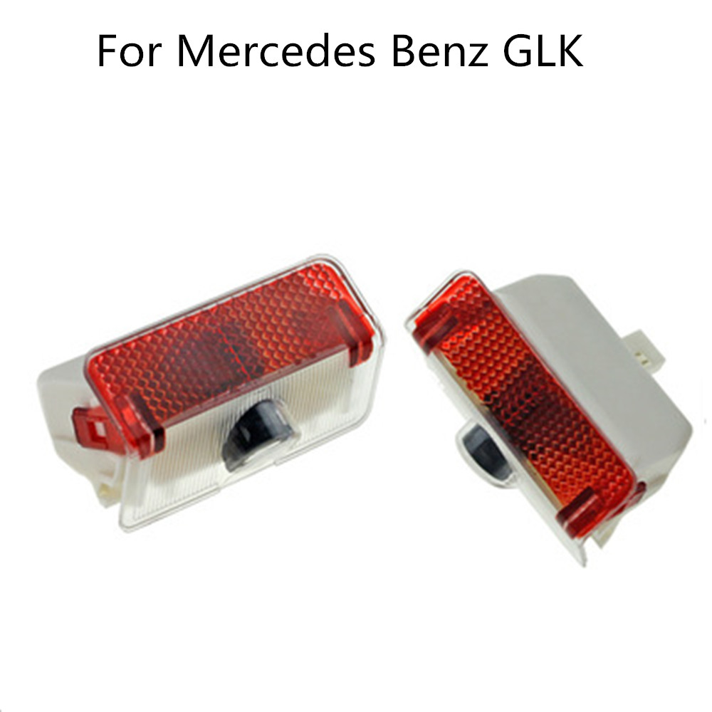2PCS LED Car Door Logo Welcome Light Laser Projector Lamp For Mercedes GLK A B Class X204 W169 W168 W245 Car Accessories