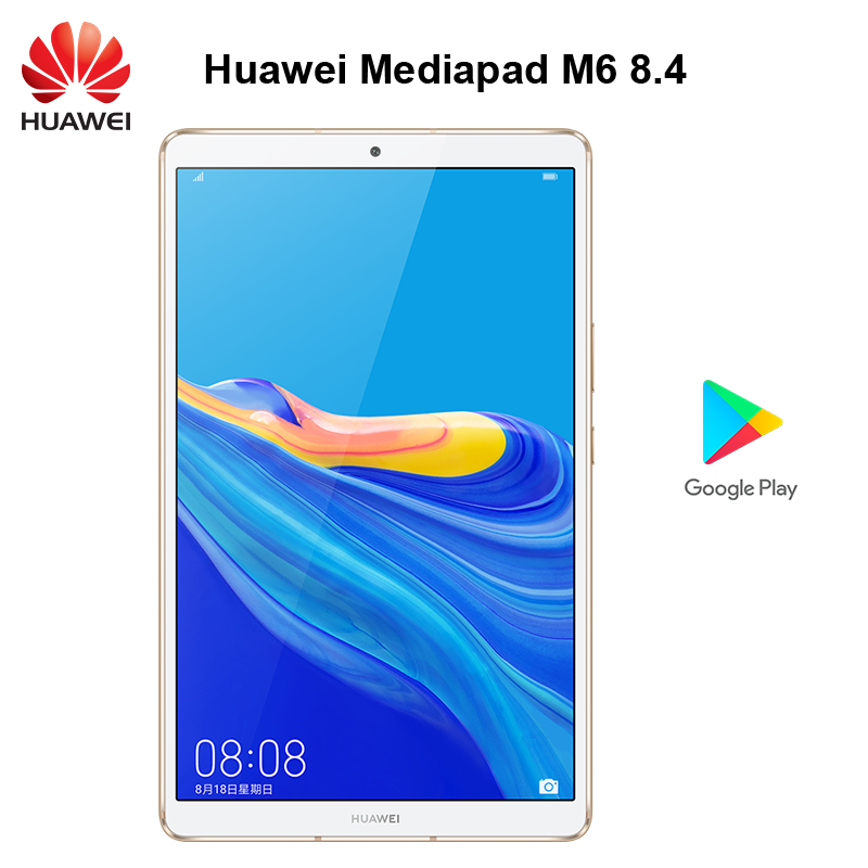 Original Huawei Tablet Mediapad M6 8.4 Inch Google Play  Kirin 980 Octa Core Android 9.0 IPS Screen 2560x1600 Type-C Two Camera