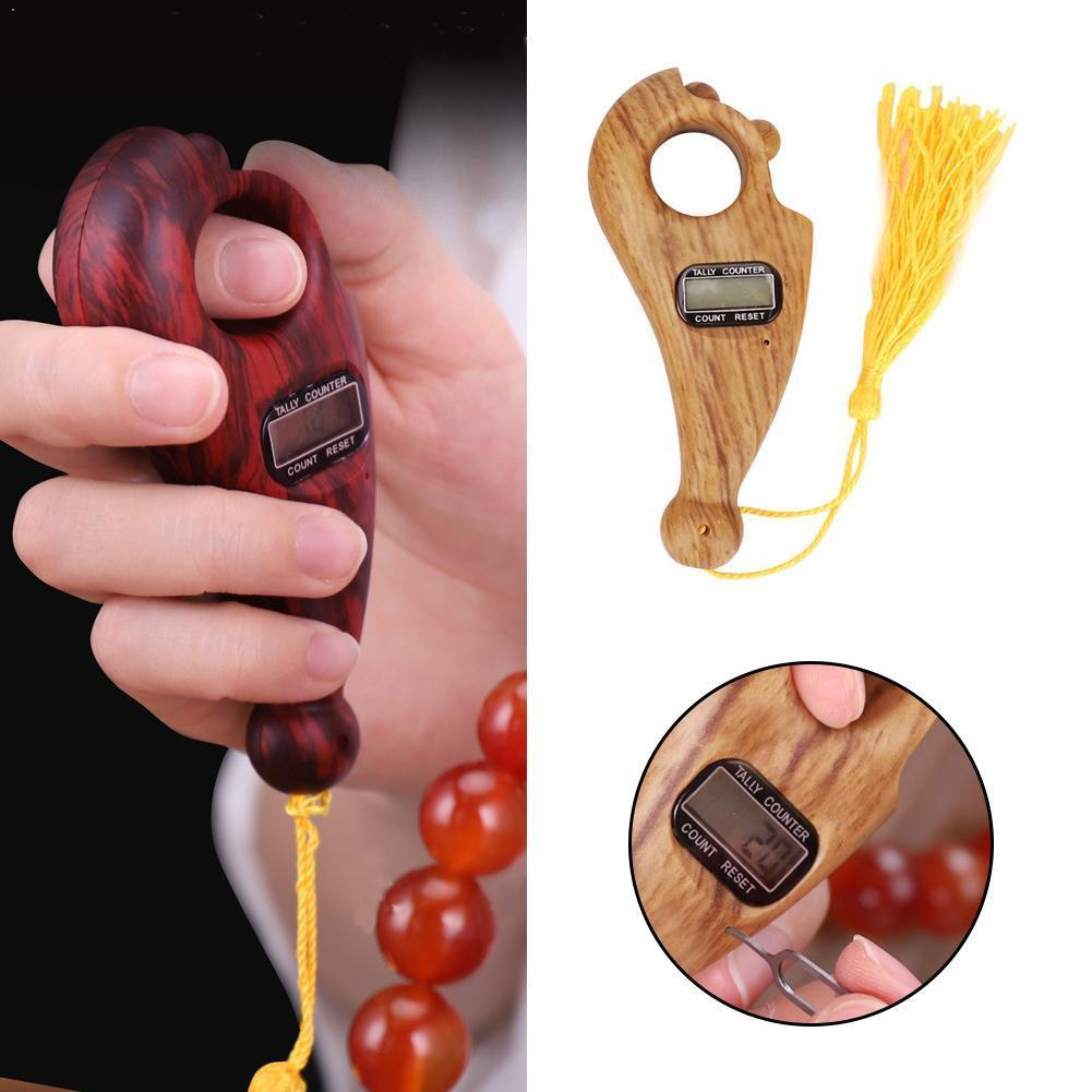 New Scroll Relaxation Battery Powered Decompression Mini Digital Toy Counter Display Handheld Buddha For Buddhist Beads Por N0K9