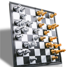Chess-Set WPC Magnetic Medieval Gold with 32 Silver High-Quality