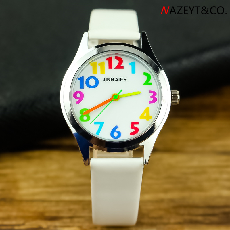 Free Shipping Kids Candy Watch High Quality Children Boys Girls Color No. Scale Dial Pu Leather Wristwatch Student Gift Clock