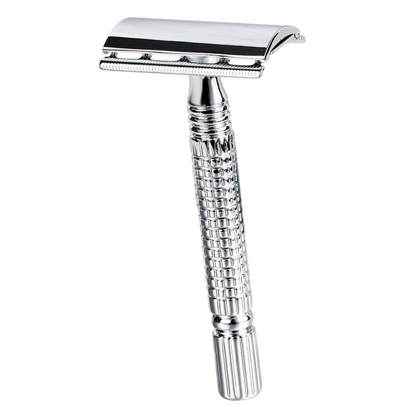 1 Razor +1 Blade Men Shaver Steel Handle Razor Safety Razor Shaver Double Edges Manual Shavers With Travel Package 2