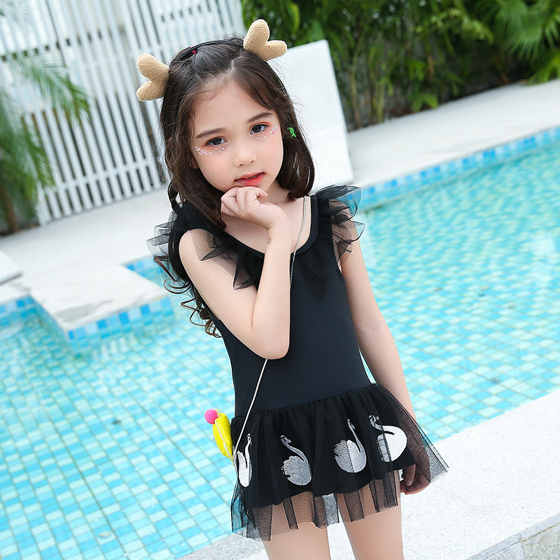New Style KID'S Swimwear Girls Dress-Big Boy Cute Mesh Dress GIRL'S Catwalks Performance Swimwear