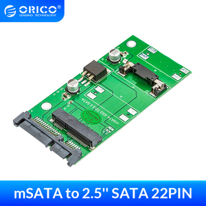 ORICO mSATA to 2.5 Inch SATA 22PIN Adapter SSD Adapter Card Support SATA3 Protocol Full Height Size mSATA to 2.5 SATA 22PIN(China)