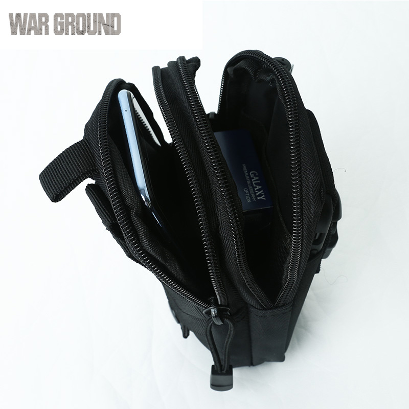 Military tactical pockets fishing hunting bag camping outdoor climbing belt bag men and women invisible running sports pockets