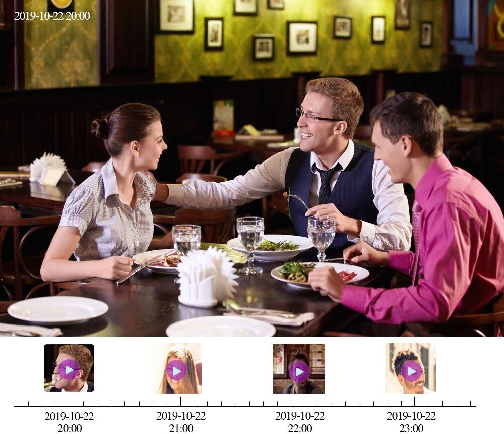 Rozpoznawanie twarzy 8CH PoE nvr CCTV 5.0MP System 5MP: Hi3516EV300 PoE kamera IP IR noktowizor zestawy nadzoru bezpieczeństwa wideo