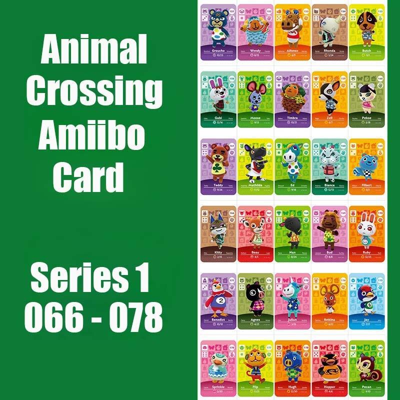 Animal Crossing Card Amiibo Card Work For Switch NS 3DS Games Series 1 66-78 Animal Crossing Amiibo Cards New Leaf