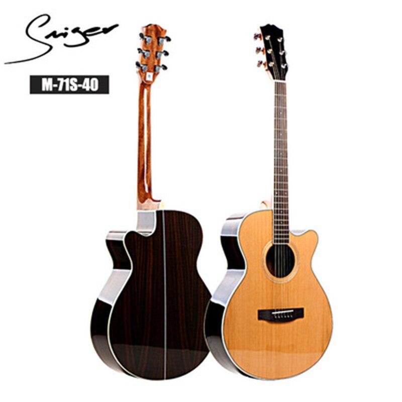 Guitare 40/41 pouces haute qualité guitare 6 cordes épicéa Rose acajou guitare haute brillance haut rigide GuitarAGT150 - 3