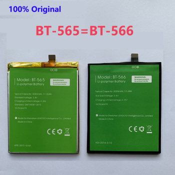 100% Original BT-565&BT-566 3000mAh Battery For Leagoo KIICAA Mix T5 T5C BT565&BT566 Mobile Smart Phone Parts Batterie Baterij