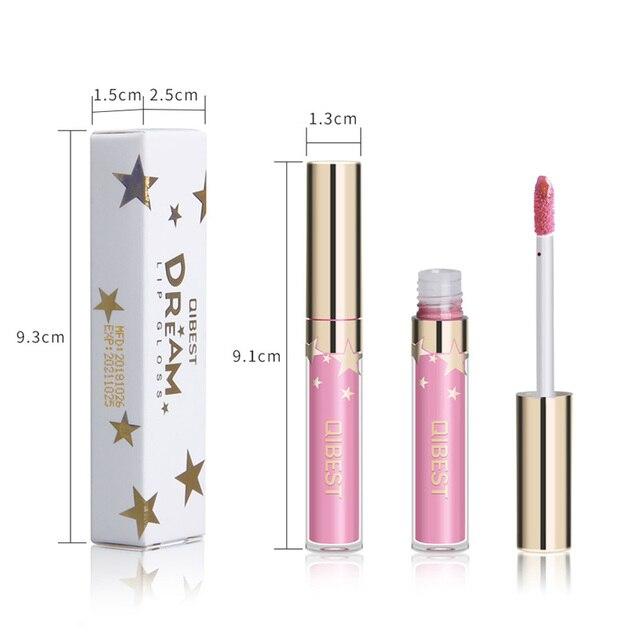 Qibest Waterproof Liquid Lip Gloss Metallic Matte Lipstick For Lips Cosmetic Sexy Batom Mate Lip Tint Makeup Lasting Lipgloss 5