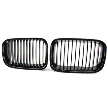 2Pcs Car Front Air Intake Grill Grille Bumper Kidney Grille For BMW E36 318i 320i 325i 97-98 Car Inner Accessories image