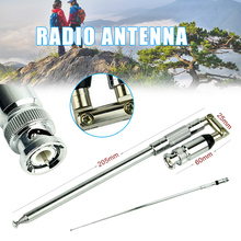 цена на 76-108MHz Telescopic Antenna BNC Connector Durable for FM Transmitter Radio FKU66