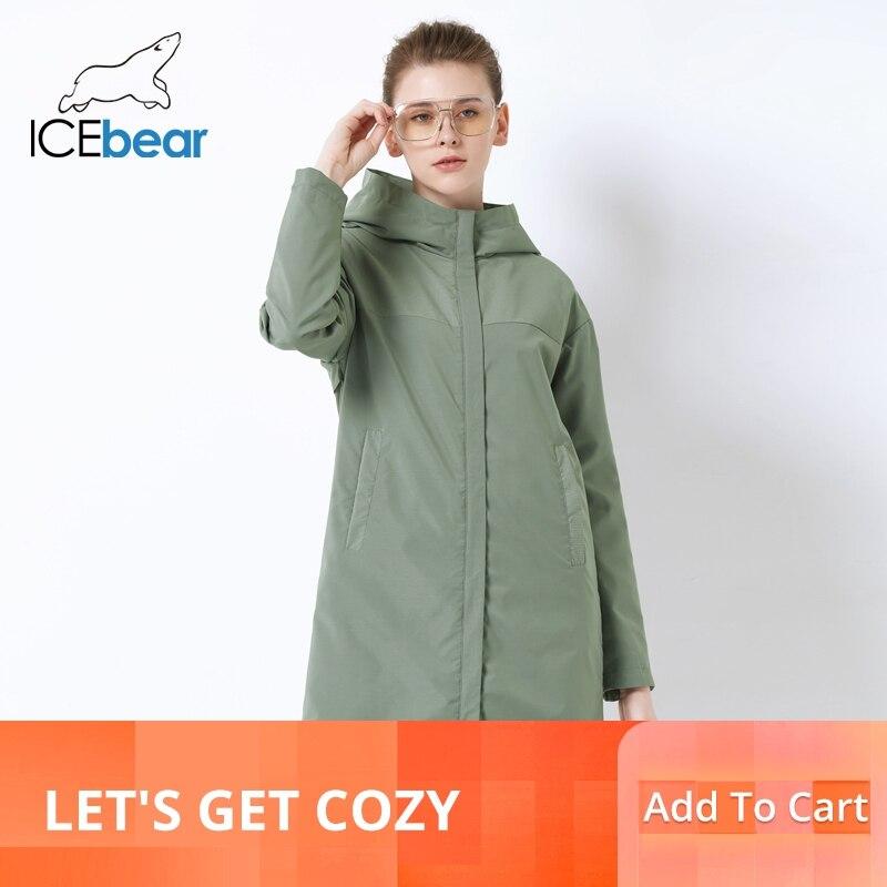 Kadın Giyim'ten Siper'de ICEbear 2019 sonbahar yeni bayanlar rüzgarlık gevşek moda rahat rüzgarlık yüksek kaliteli marka bayan GWF19001I'da  Grup 1