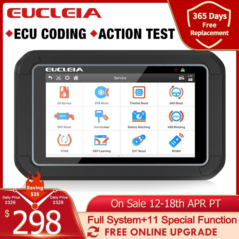 EUCLEIA S7C OBD2 otomotiv tarayıcı profesyonel tam sistem kod okuyucu EPB DPF ABS hava yastığı yağ sıfırlama OBD 2 araç teşhis aracı