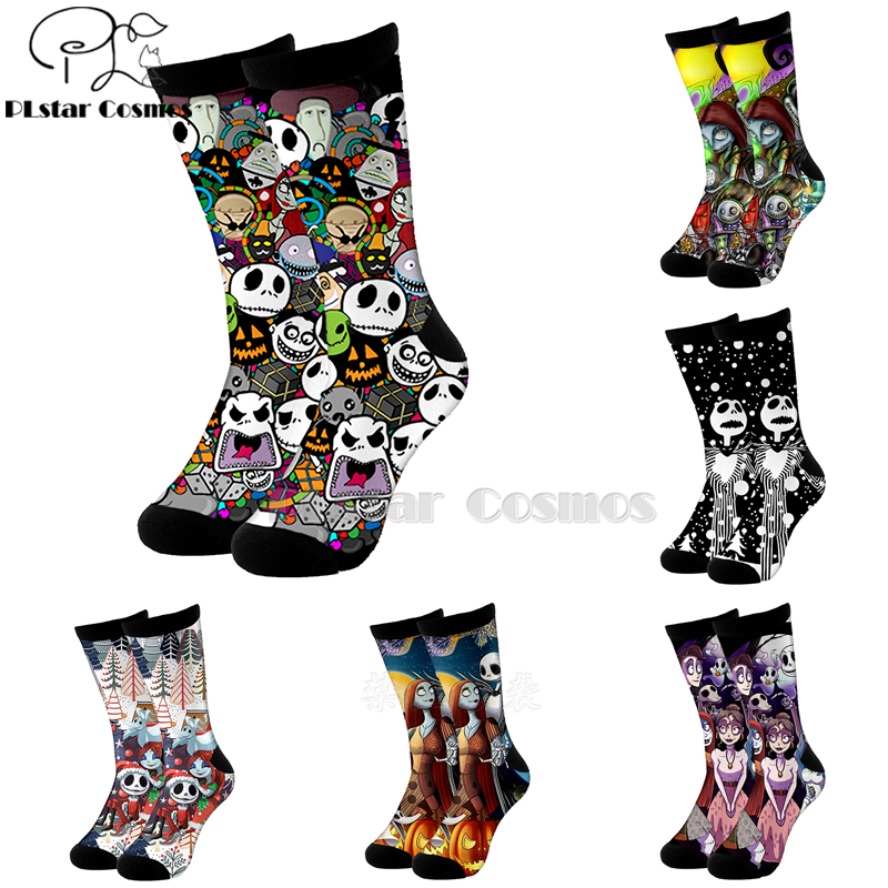Plstar Cosmos Nightmare Before Christmas Jack Skellington Socks Cartoon 3d Socks High Socks Men Women High Quality Halloween-5