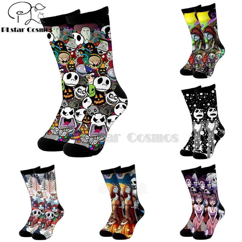 Plstar Cosmos Nightmare Before Christmas Jack Skellington Socks Cartoon 3d Socks High Socks Men Women High Quality Halloween-5