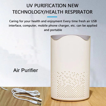 USB Negative Ion Air Purifier With UV Sterilizer Light And Activated Carbon Air Filter Car Ionizer Air Purifier 405 240 mm activated carbon collect dust hepa filter deodorant filter of air purifier parts for f vxh50c f pxh55c etc