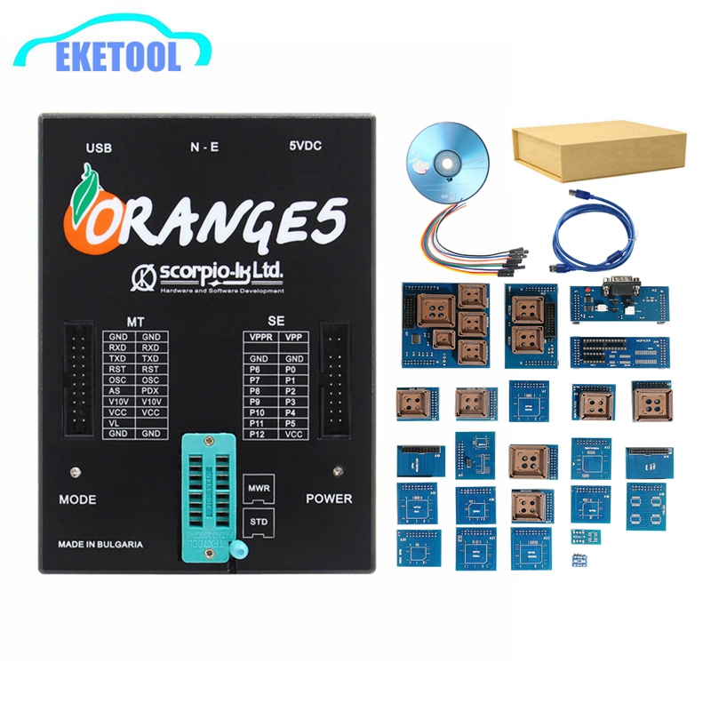 Best Quality Orange5 Full Adapter ECU Programmer V1.34 English/Russian Languga Orange 5 Full Function Hardware Free Shipping-in Car Diagnostic Cables & Connectors from Automobiles & Motorcycles    1