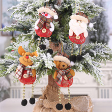 4pcs 2019 Merry Christmas Ornaments Gift Santa Claus Snowman Tree Toy Doll Hang Decorations for home Enfeites De Natal