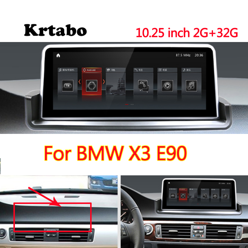 Car radio <font><b>Android</b></font> multimedia player For <font><b>BMW</b></font> X3 <font><b>E90</b></font> <font><b>10.25</b></font> inch touch screen GPS Carplay image