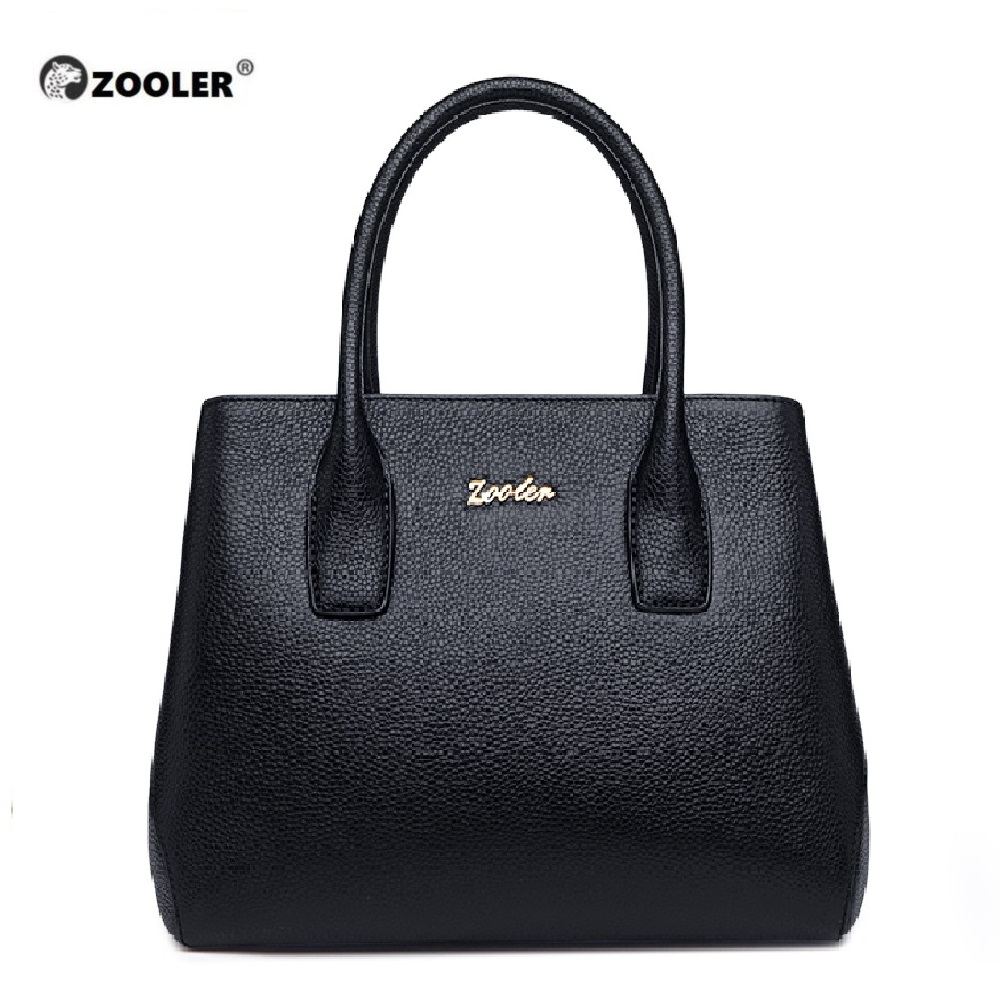 ZOOLER 2019 Woman Leather Bags Women Famous Brands Luxury Handbags Genuine Leather Bag Shoulder Bags Designed Tote Bolsos #WG206