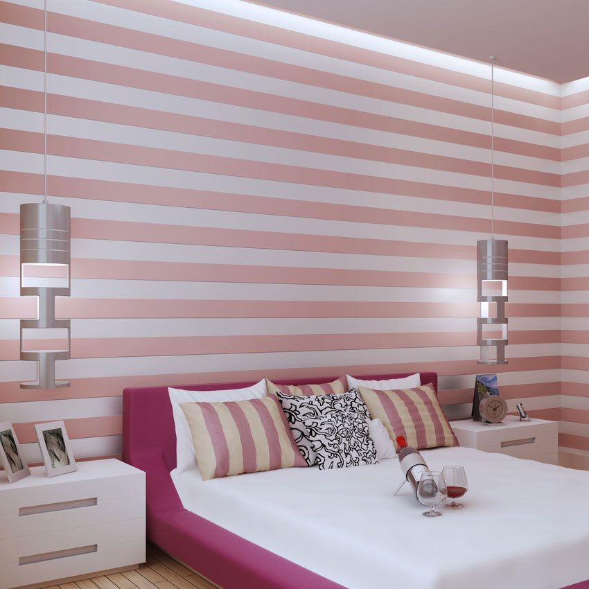 Modern Bedroom Living Room Stripes Wall-to-Wall Wallpaper Simple Office Wall Non-woven Wallpaper Manufacturers Direct Selling