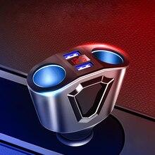 Lighter-Socket Ports Car-Splitter Power-Adapter Usb-Car-Charger Cigarette Voltage-Display