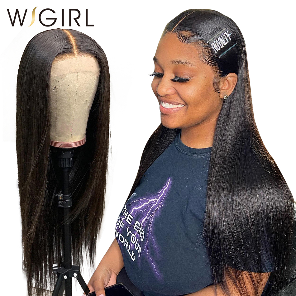 Wigirl 28 30 Inch 13x6 Lace Front Human Hair Wigs Glueless Pre Plucked Brazilian Straight Remy Lace Front Wig For Black Women