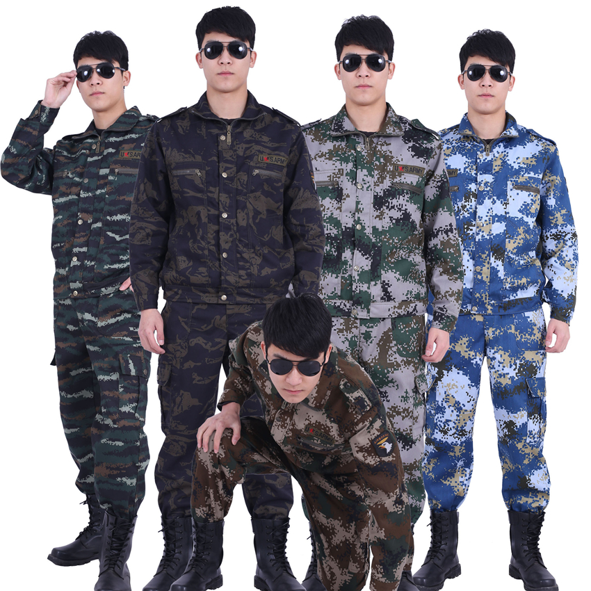 Army Tactical Men Camouflage Special Forces Military Uniform Work Wear Adult Airsoft Soldier Training Combat Clothes Pant Set image