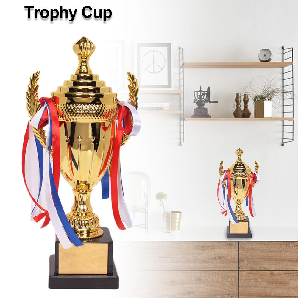 Large Trophy Cup Multi-color Bows Inspiring Trophy Cup For Sports Meeting Competitions Lembrancinha World Cup Trophy Stash