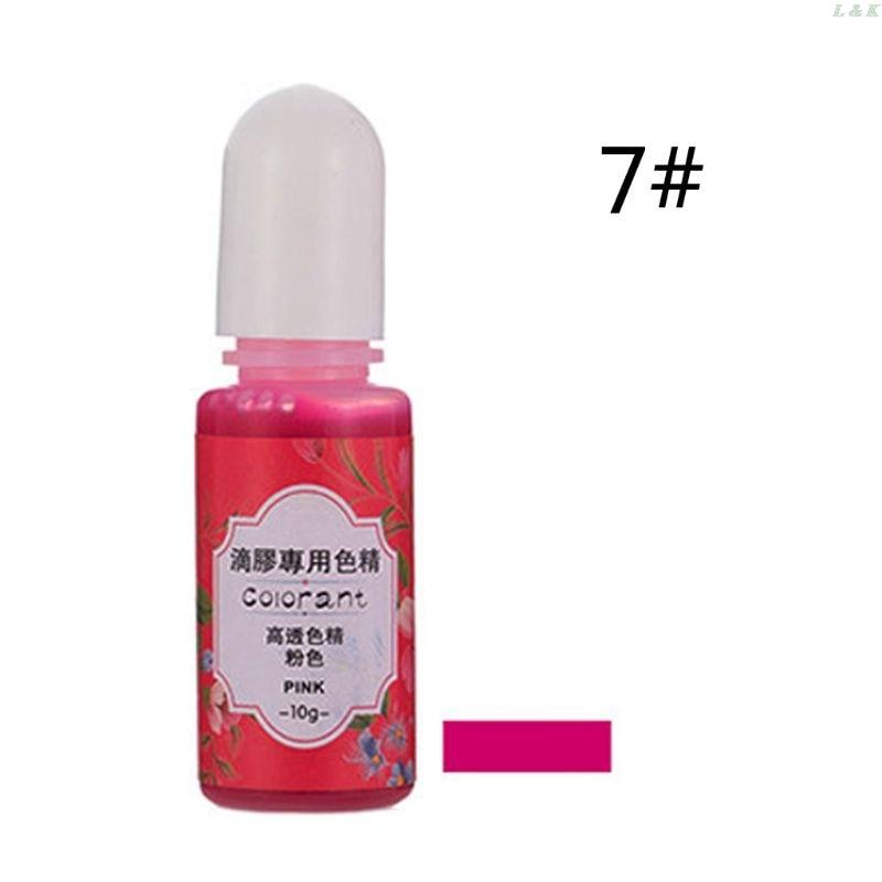 13 Colors Epoxy UV Resin Coloring Dye Liquid Epoxy Pigment Resin Colorant Fading Resistance10ml Translucent PXPC 5