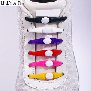 Image 1 - Silicone No Tie Shoelaces 12pcs/lot Elastic Shoe Laces Accessories Elastic Lace Shoelace Creative Lazy Silicone Laces Rubber
