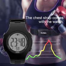 Heart Rate Monitor Running Sport Watches Waterproof Equipment For Gym Outdoor Sports with Chest Strap